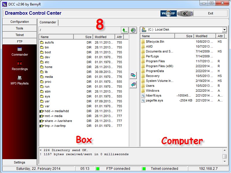 dreambox controle center